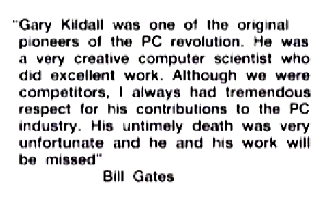 gates about kildall