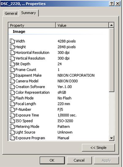 screenshot moon d300  Foc Length 220