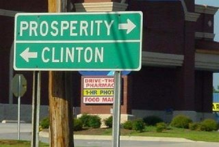 crossroad: clinton - prosperirity