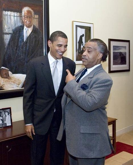 sharpton & obama