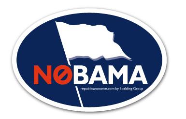bumper sticker obama white flag  'nobama'