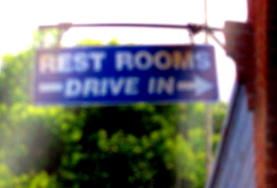 restrooms drive in