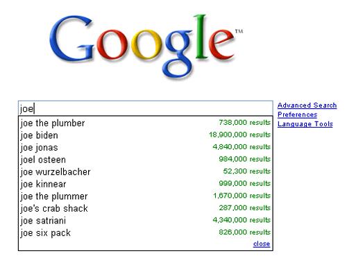 joe google joe plumber