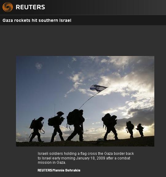 Israel Gaza Reuters 011809