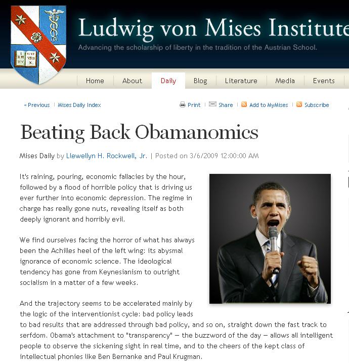 Mises VS. Omanomics