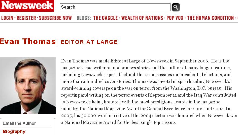 Evan Thomas  Newsweek