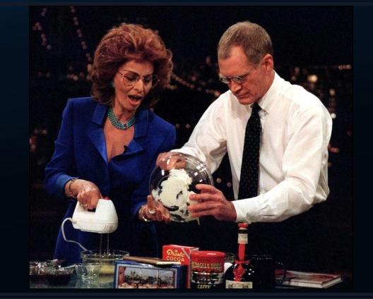 Sofi Loren and Letterman, 1999