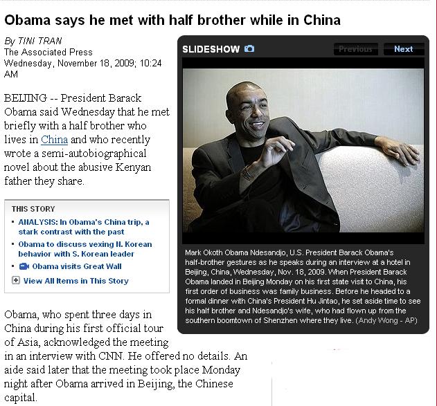 Obama Half-brother Half Jew