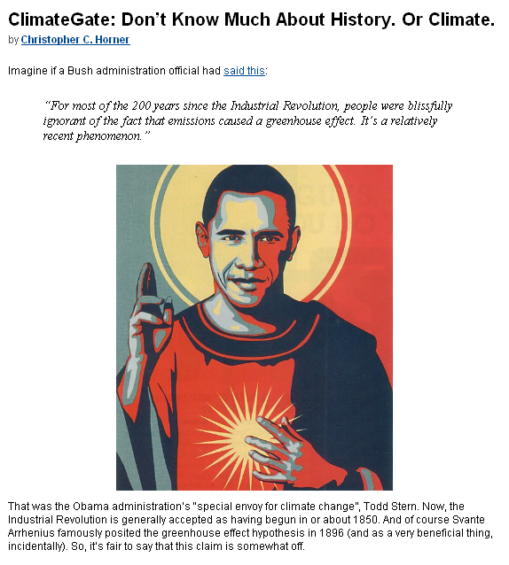 Climategate and Sant Obama