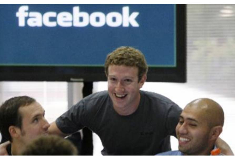 Zuckerberg in his headquarters