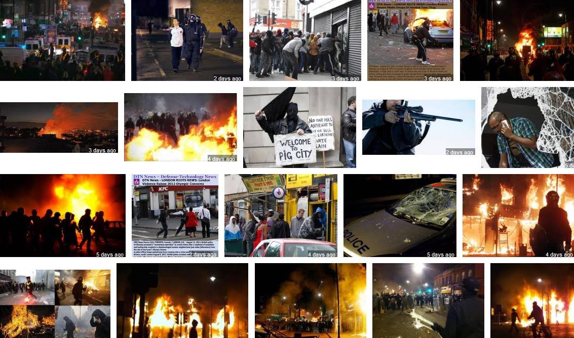 London Riots Google Images