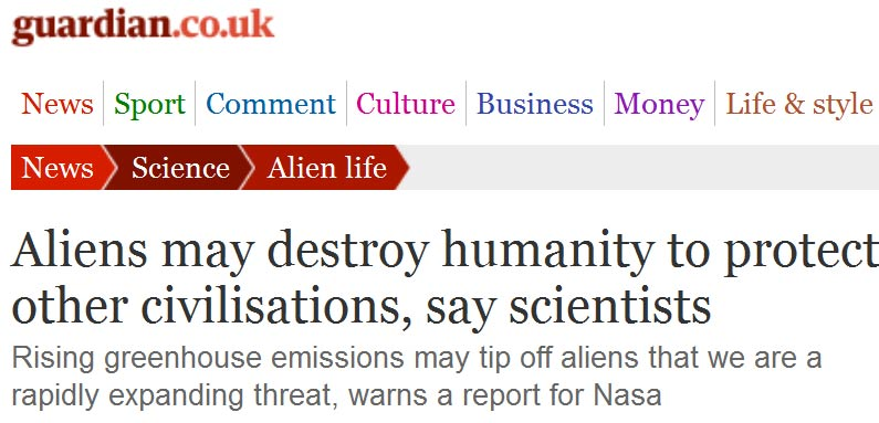 Aliens warming