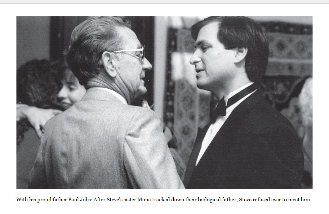 Paul Jobs - Father of Steve Jobs (left) - The wedding ceremony, 1991