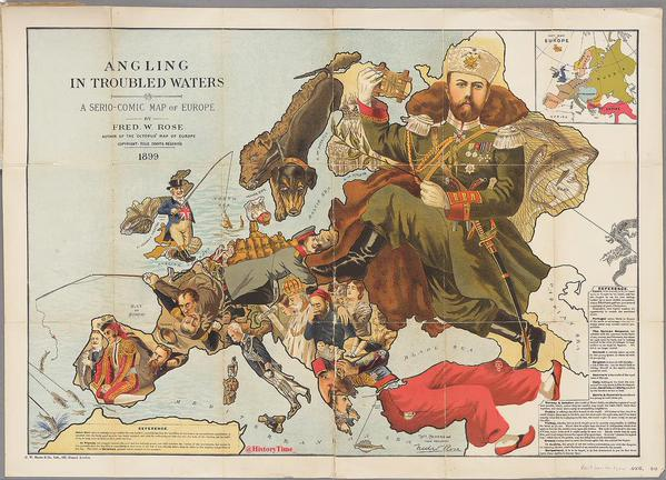political map of Europe 1899