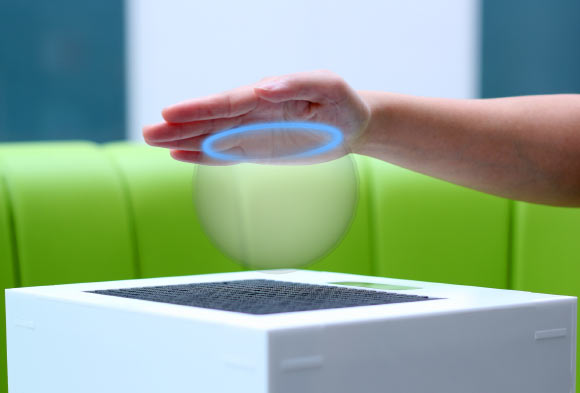 Users Touch, Feel 3D Holograms