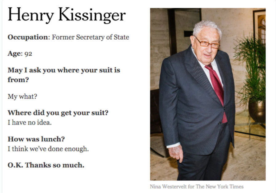 Kissinger NYTimes