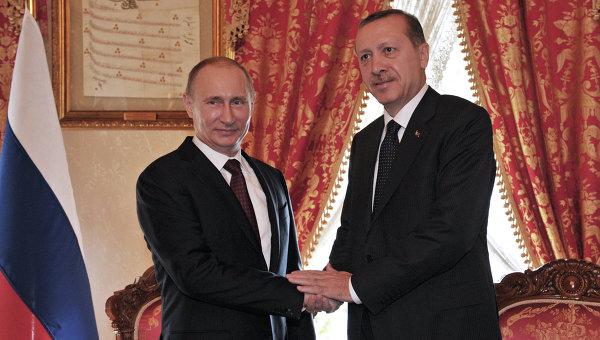 Владимир Путин и Тейип Эрдоган