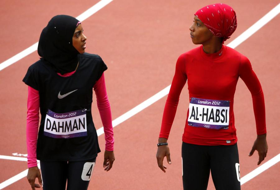 Фатима Сулайман Дахман (Йемен) и Шинуна Салах аль-Хабси (Оман), легкая атлетика