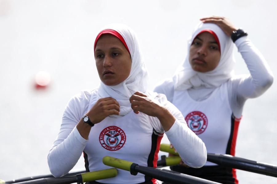 Сара Мохамед Барака и Фатима Рашид (Египет, академическая гребля)