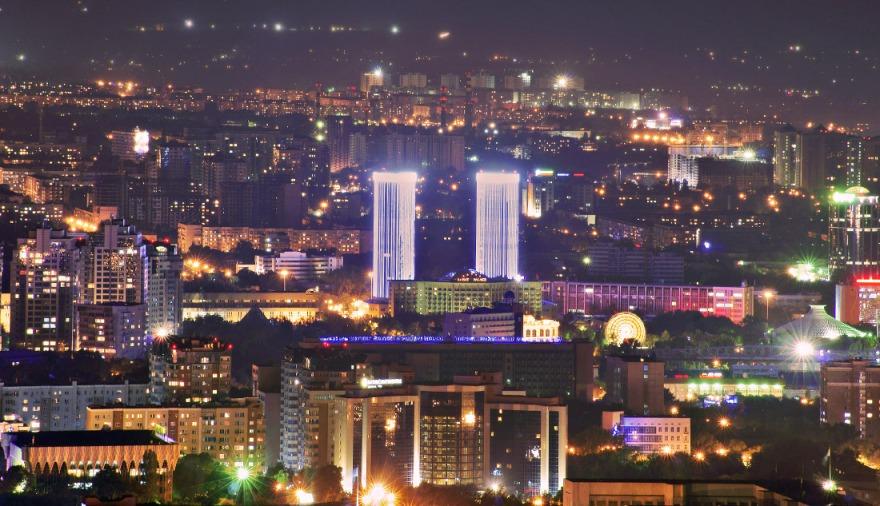 Фотограф: Olga Kulakova - Название фотографии: ночной Алматы - Категория: Н