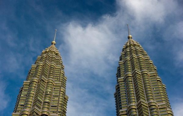 11 Petronas towers at sunset