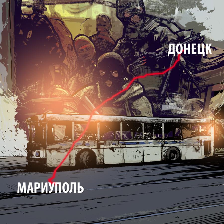 Москва требует расследования обстрела автобуса в Донбассе