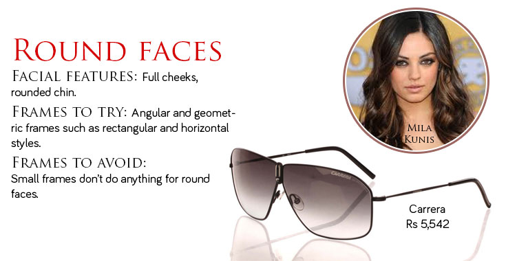 What Glasses Frame Is Best For A Round Face : Find the best sunglasses for round face shape Online ...