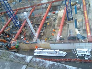 Swiss Centre construction site 2009-01-07