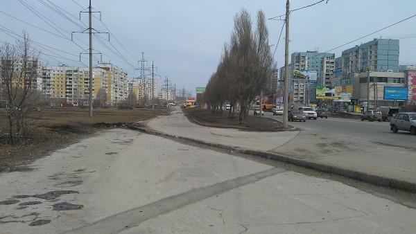 место, где примыкает старая Ново-Садовая к новой Ново-Садовой