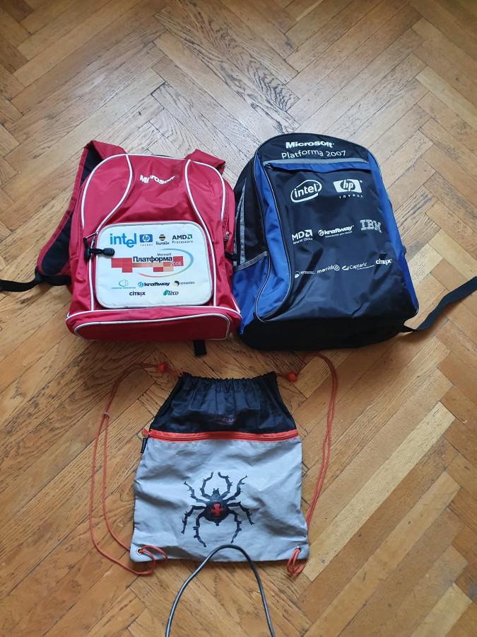 Рюкзаки Б/у и сумка для сменки б/у, самовывоз Академика Варги, сегодня 07.09.20