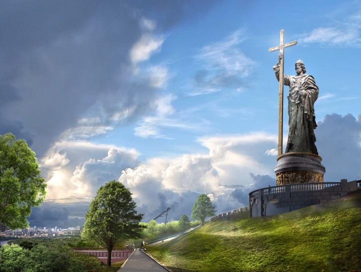 Памятник святому князю Владимиру на Воробьёвых горах в Москве