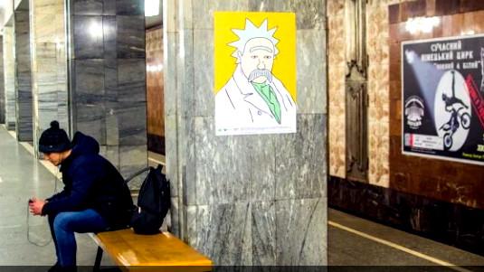 українофоби-підараси знущаються над Шевченком
