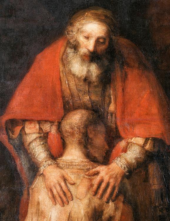 Возвращение блудного сына. Фрагмент. Рембрандт