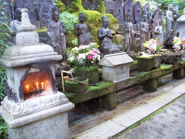shrine on the waterfall mountain