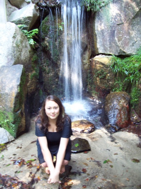 mariko at one of the falls