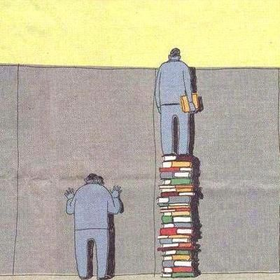 books over the wall