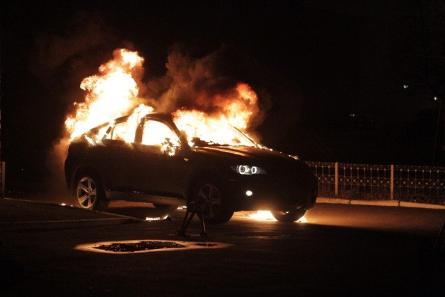 BMW X6 in fire