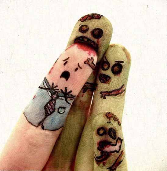 зомби пальцы