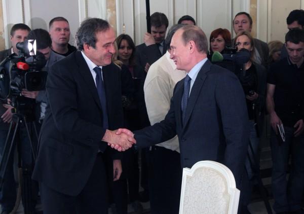 Путин Платини