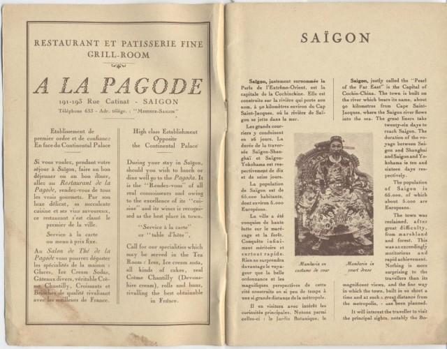 Путеводитель по Сайгону. Год 1928.