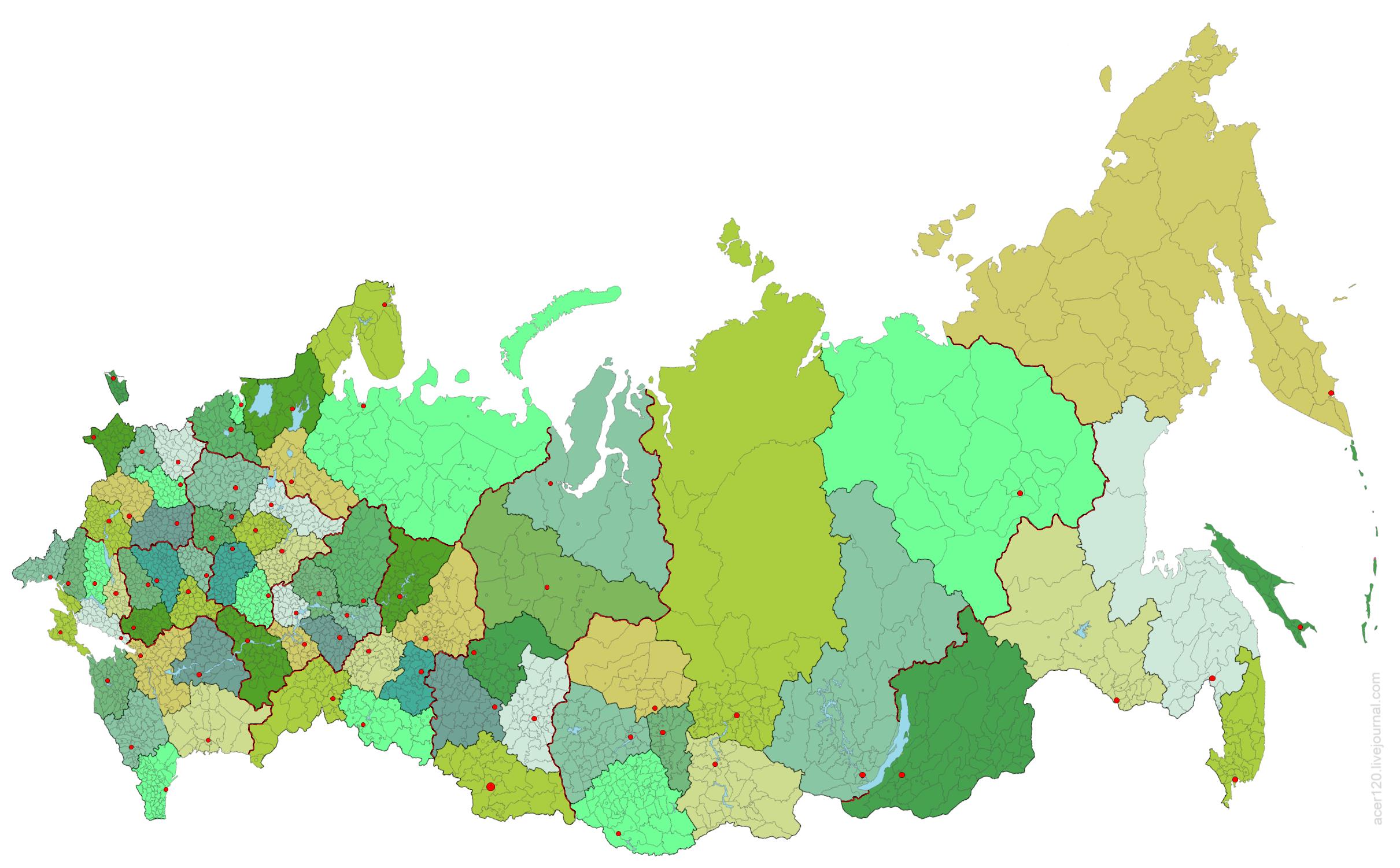 РР - регионы