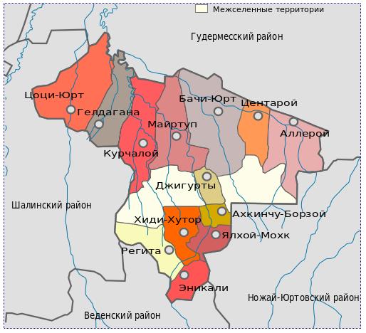 центоройский район схема