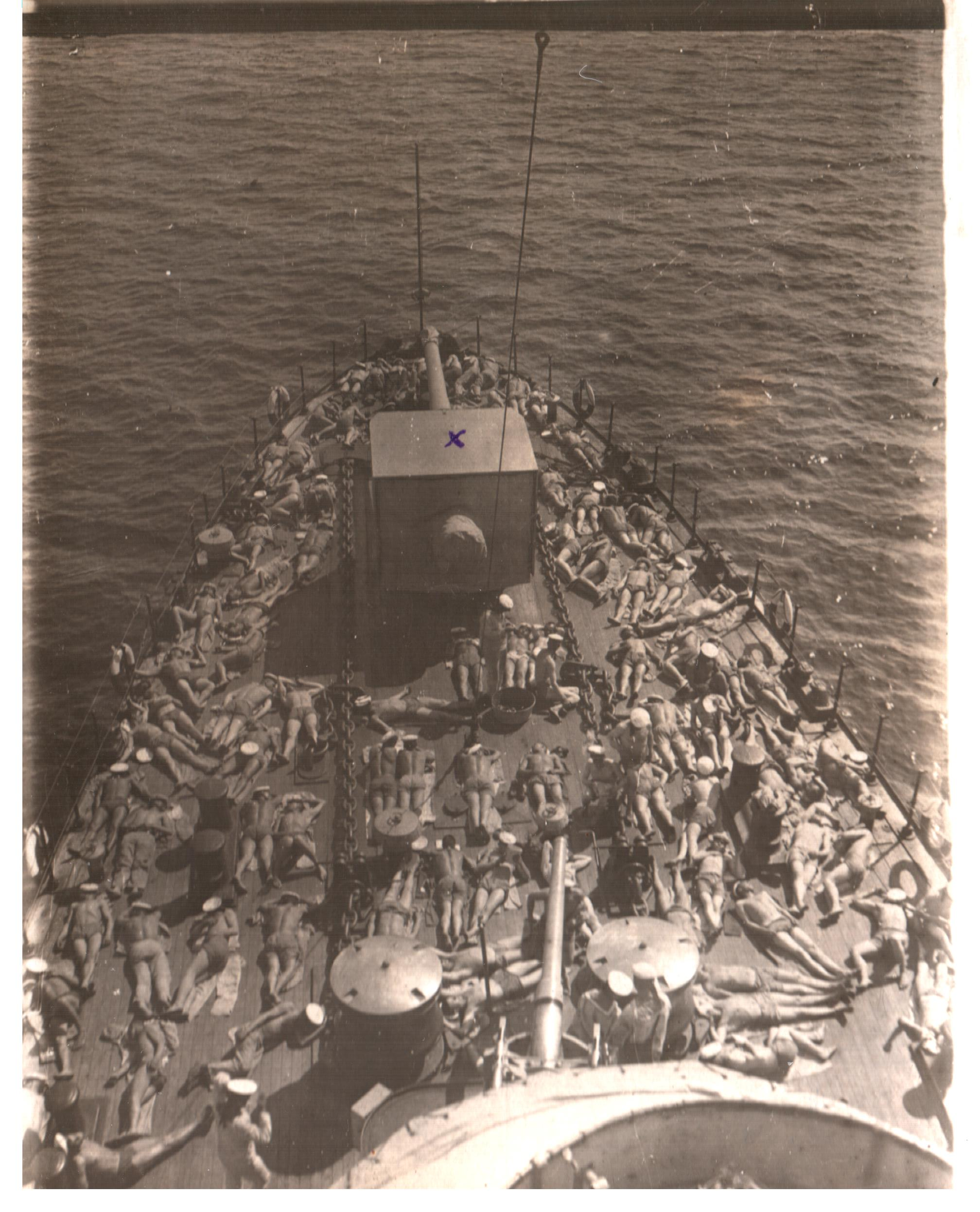 тихий час на крейсере Аврора,1934 г.