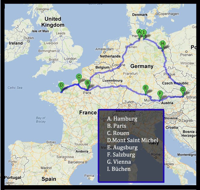 My travels in 2012