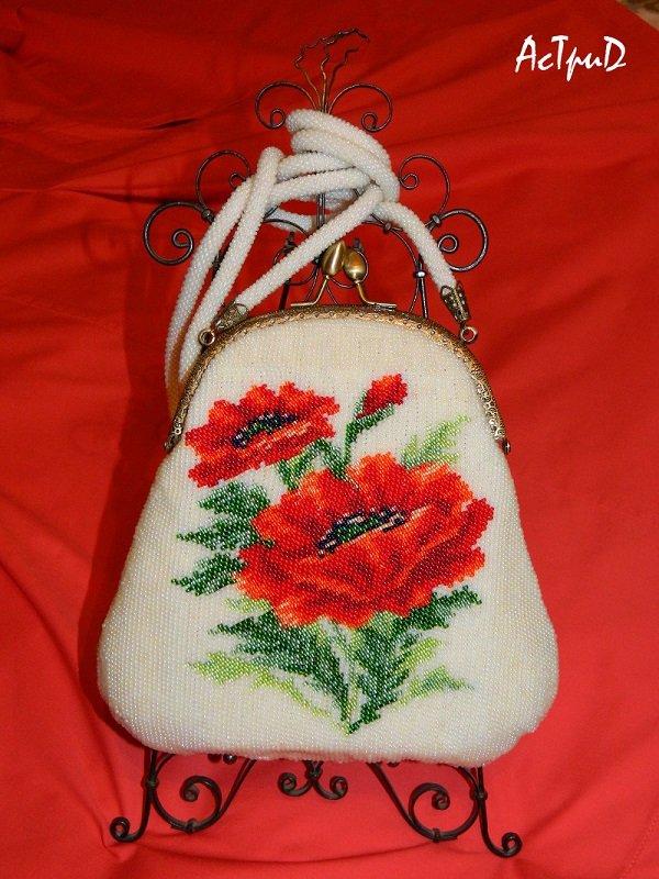 Сумочки с фермуаром с вышивкой бисером своими руками