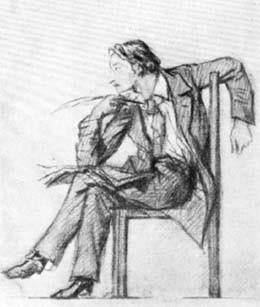 Н.В. Гоголь. Рисунок П. Соколова. 1853 г.