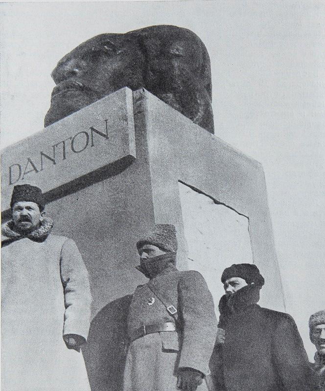 Открытие памятника Дантону в Москве.1918 год