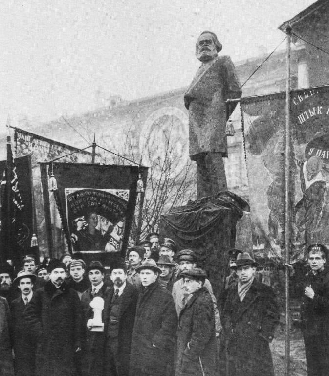 Открытие памятника Карлу Марксу. 1918 год
