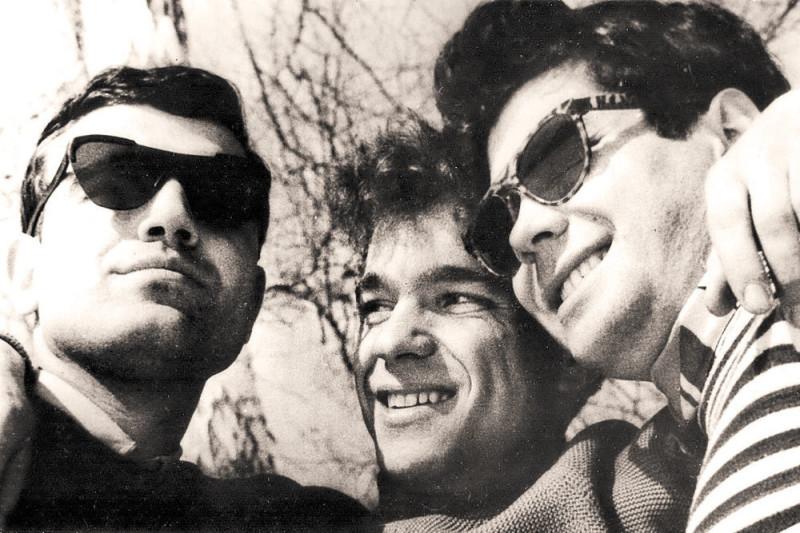 Геннадий Шпаликов, Юлий Файт и Александр Княжинский. Середина 1960-х. Из архива Юлия Файта