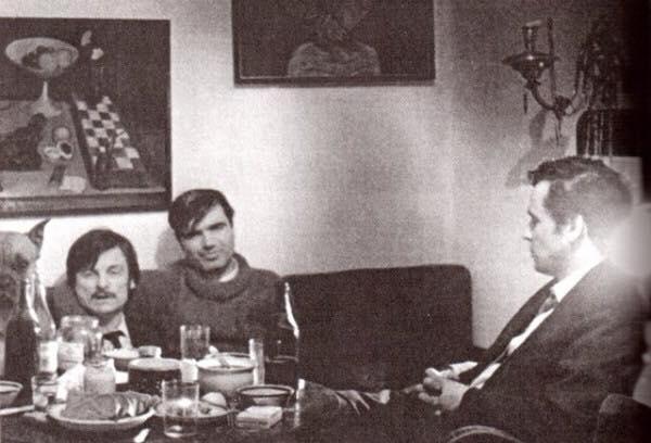 Андрей Тарковский, Геннадий Шпаликов и Михаил Ромадин. Фото: kino-teatr.ru.
